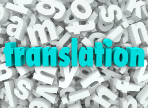 The word Translation on a background of 3d letters to illustrate